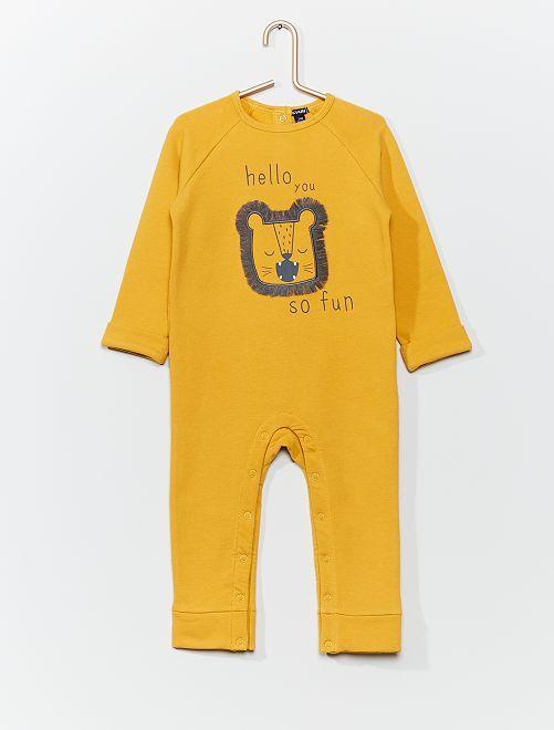 Pyjama ludique tête de lion                             jaune