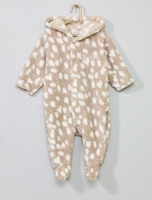 Pyjama maille peluche                                         gris taupe Bébé garçon