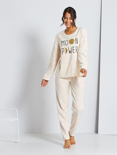 Pyjama maille polaire                             nude
