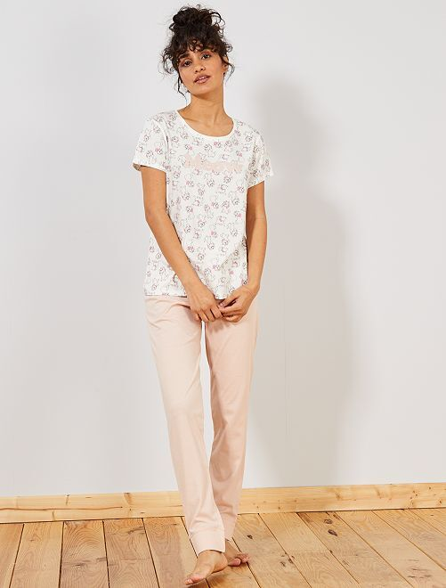 Pyjama 'Marie' des 'Aristochats'                                                                             rose Lingerie du s au xxl