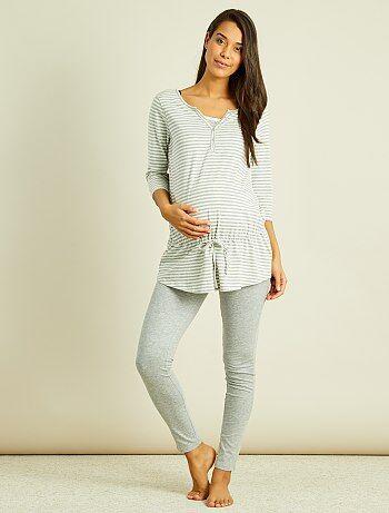 Maternité - Pyjama maternité brassière d'allaitement intégrée - Kiabi