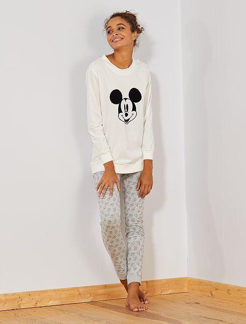 Pyjama 'Mickey'                                                                 blanc
