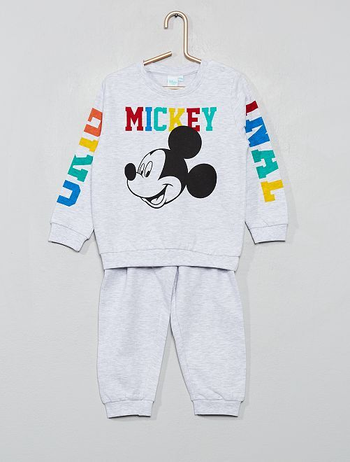 Pyjama 'Mickey' en molleton léger                             gris chiné