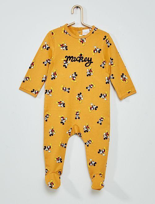 Pyjama 'Mickey'                                                                 jaune moutarde