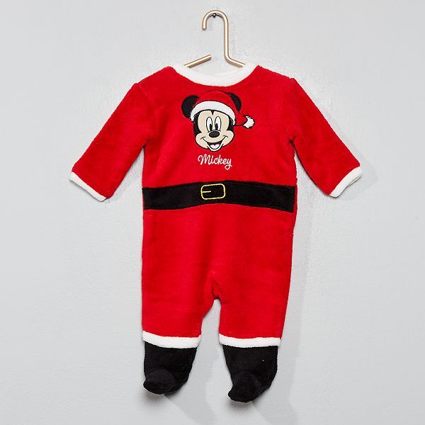 hot-vente dernier classique chic vaste gamme de Pyjama 'Mickey' Noël Bébé garçon - rouge - Kiabi - 14,00€