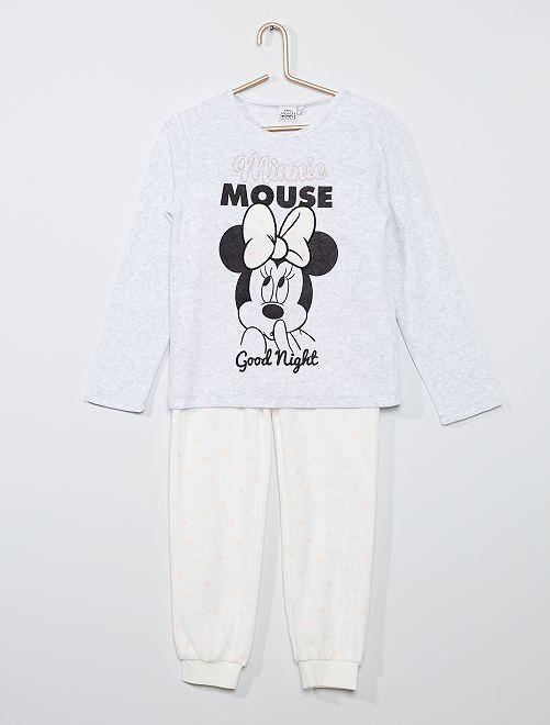 Pyjama 'Minnie' en polaire                             gris