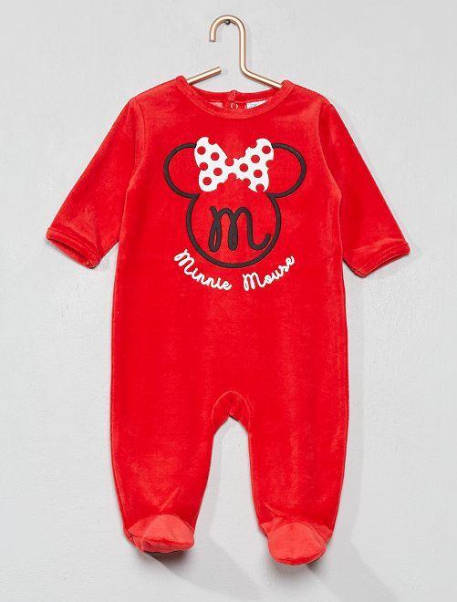 Pyjama 'Minnie' en velours                                         rouge Bébé fille