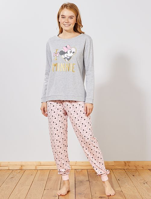 Pyjama 'Minnie'                                         gris/rose
