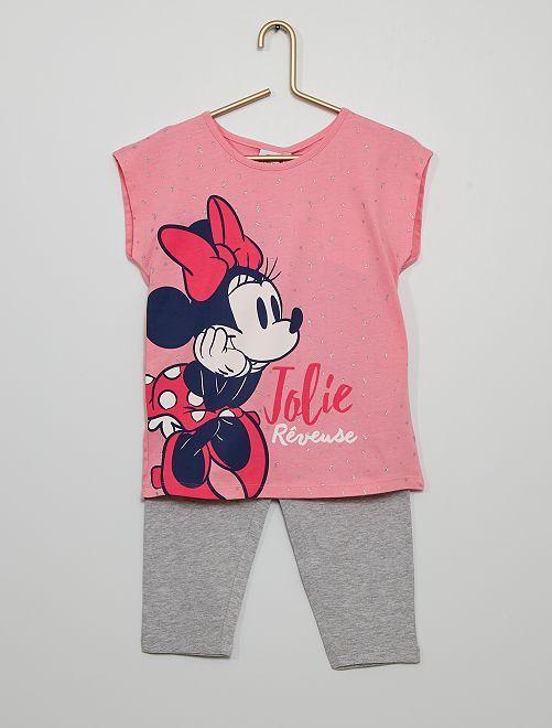 Pyjama 'Minnie'                                         rose/gris