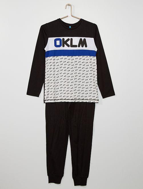 Pyjama 'OKLM'                                         marine/gris