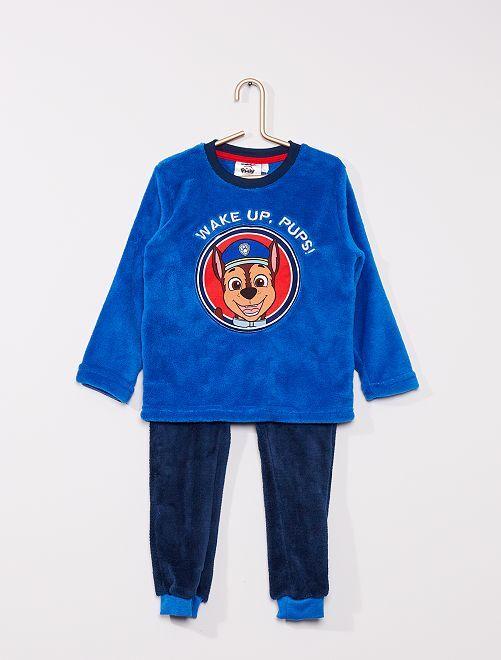 Pyjama 'Pat Patrouille' en polaire                     bleu