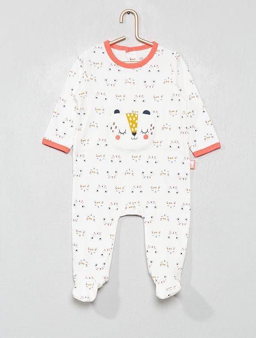 Pyjama 'Petit Béguin'                             écru/rose