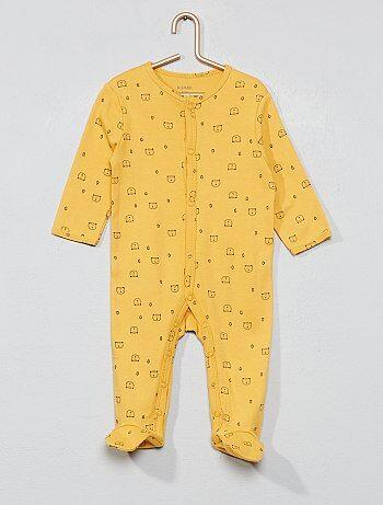 ef0b91d34a6ac Garçon 0-36 mois - Pyjama poche  animaux  - Kiabi