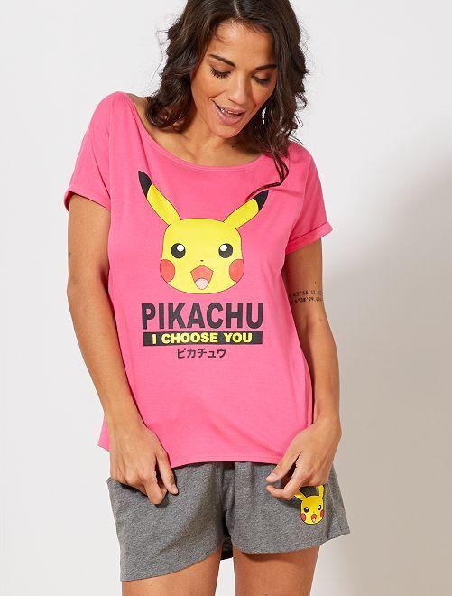 Pyjama 'Pokémon'                             rose/gris