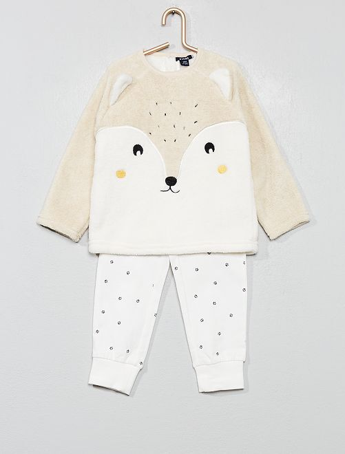 Pyjama polaire et jersey                                         beige Bébé fille