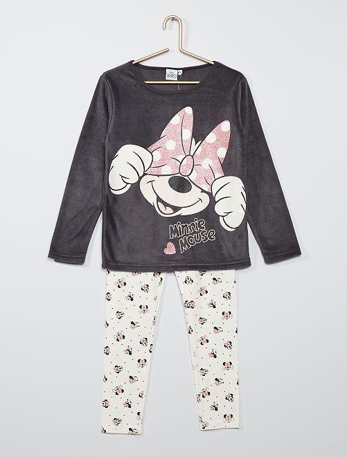 Pyjama polaire 'Minnie'                             gris foncé
