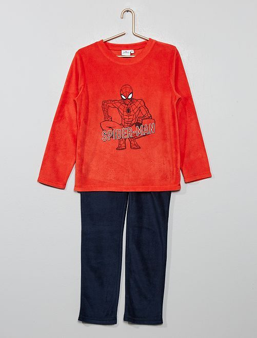 Pyjama polaire 'Spiderman'                             rouge/marine