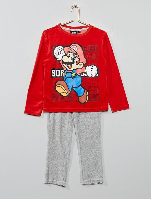 Pyjama polaire 'Super Mario'                             rouge