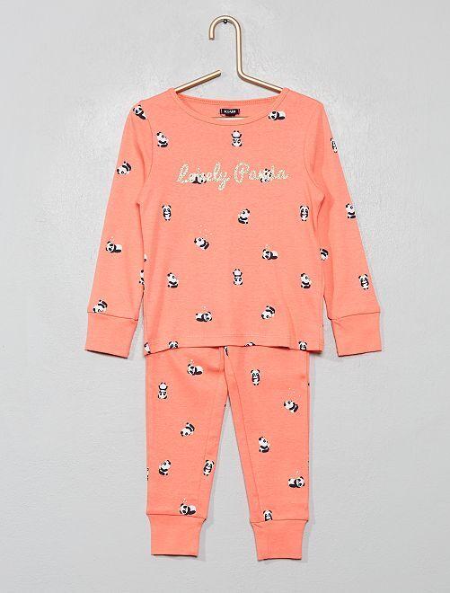 Pyjama pur coton 'licorne'                                                                                                     rose fluo