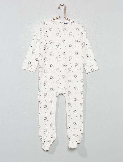 Pyjama pur coton 'lion'                                         écru Bébé garçon