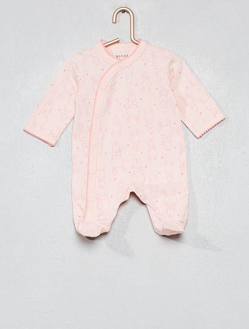 Pyjama pur coton                     rose clair