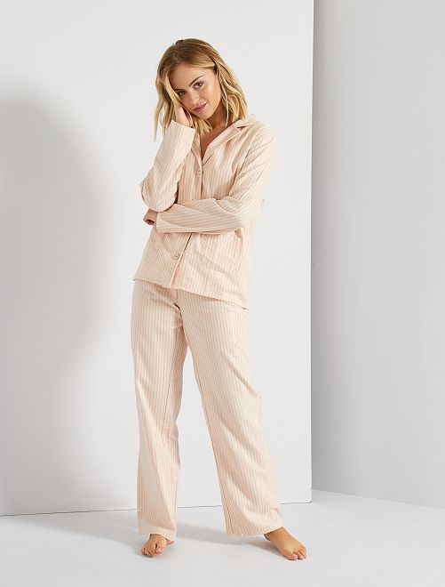 Pyjama rayé 2 pièces                             ROSE