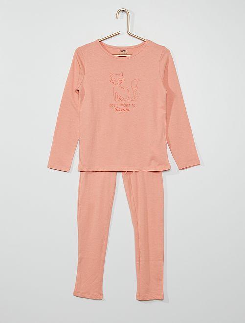 Pyjama 'renard'                                                                                         rose