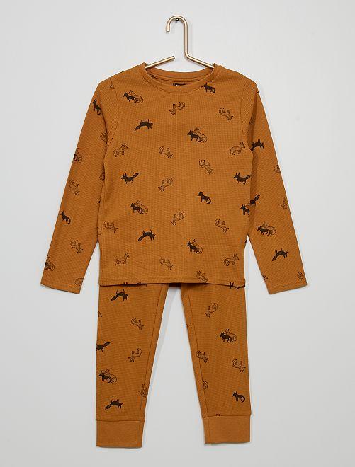 Pyjama 'renards'                                         marron