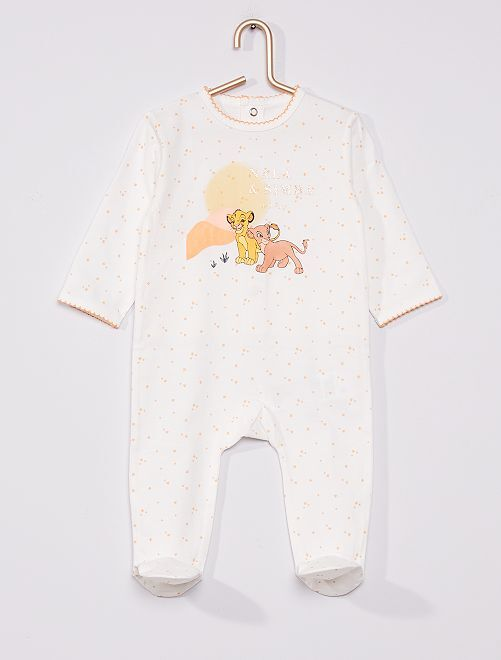 Pyjama 'Roi Lion' de 'Disney'                                                                 blanc