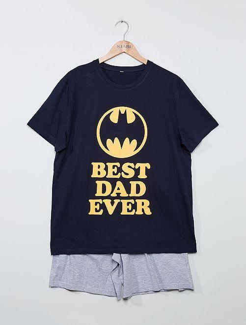 Pyjama short 'Best dad ever' 'Batman'                             VIOLET