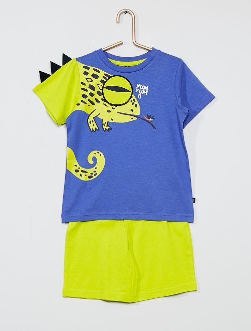 Pyjama short 'Caméléon'                                         vert