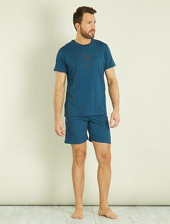 Homme short au Kiabi coton S Pyjama en du XXL wARH6Twzq