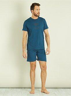Pyjama short en coton - Kiabi