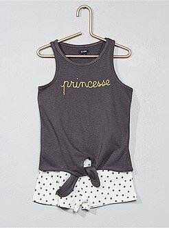 Fille 3-12 ans - Pyjama short en coton - Kiabi