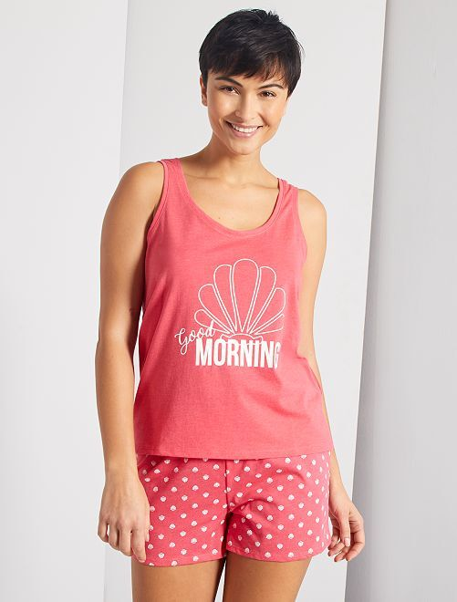 Pyjama short 'Good Morning'                                                                 rose