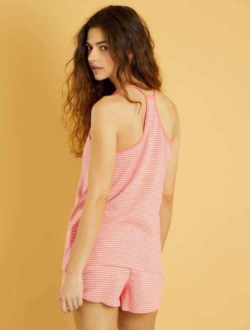 Pyjama short imprimé                                                                 rose Lingerie du s au xxl