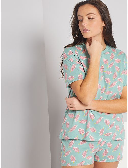 Pyjama short jersey                                                                 vert