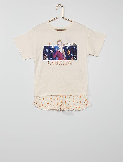 Pyjama short la 'Reine des Neiges'                                         beige/rose