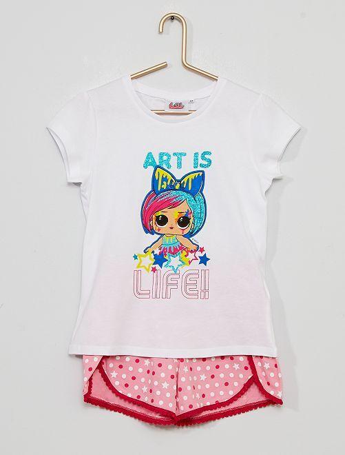 Pyjama short 'L.O.L. Surprise!'                                         blanc