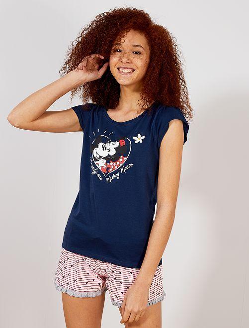 Pyjama short 'Mickey'                     bleu Lingerie du s au xxl