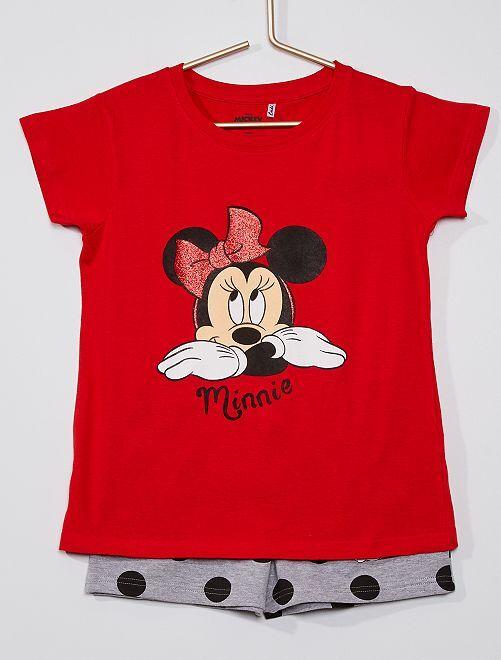 Pyjama short 'Minnie' de 'Disney'                             rouge/gris