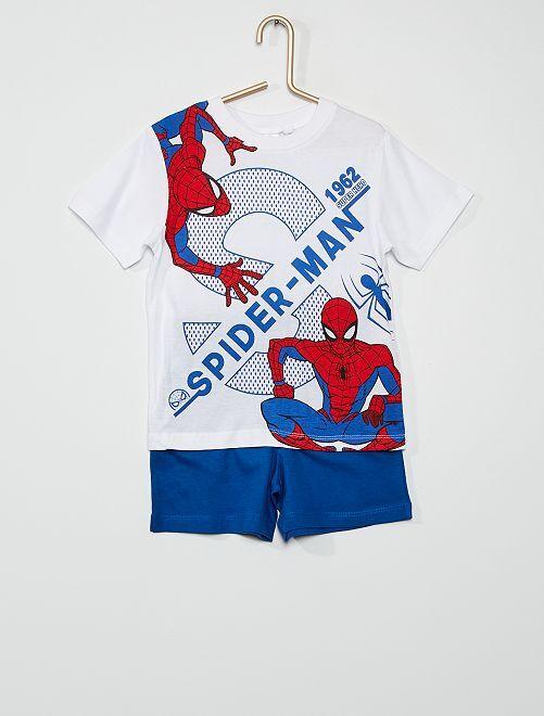 Pyjama short 'Spider-man'                                         blanc/bleu