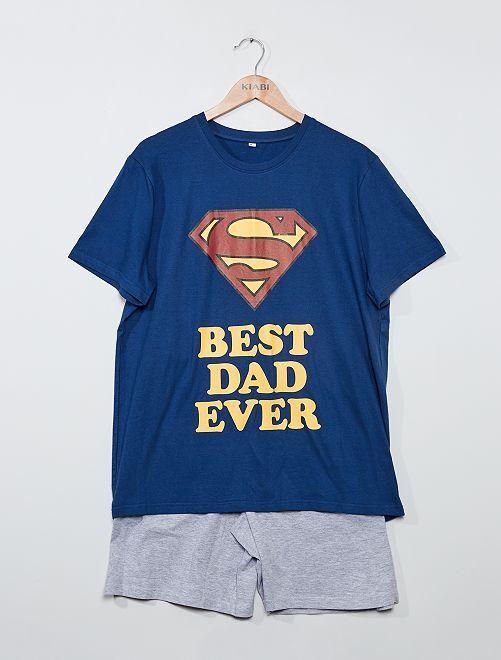 Pyjama short 'Superman'                             marine/gris