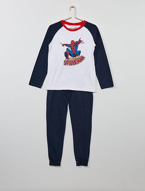 Pyjama 'Spider-man'                             gris/bleu