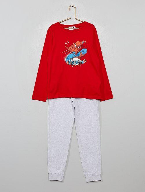 Pyjama 'Spider-Man'                             rouge/gris