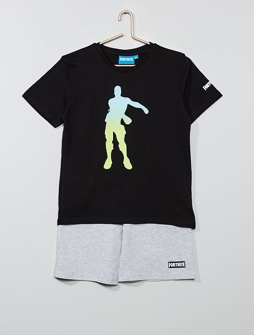 Pyjama t-shirt + short 'Fortnite'                             noir