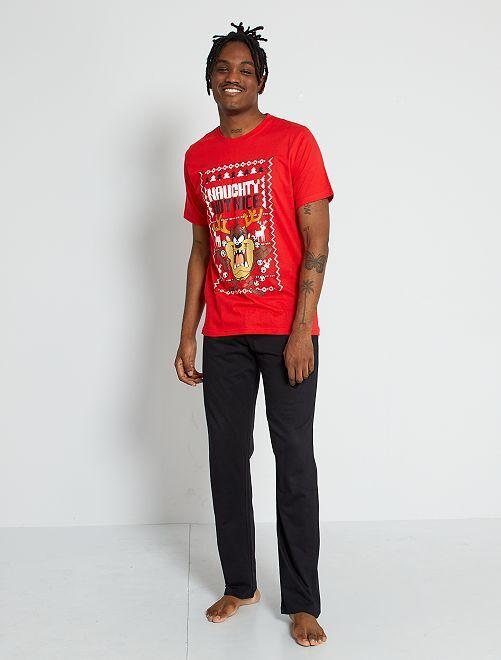 Pyjama Taz 'Looney Tunes'                             rouge/noir