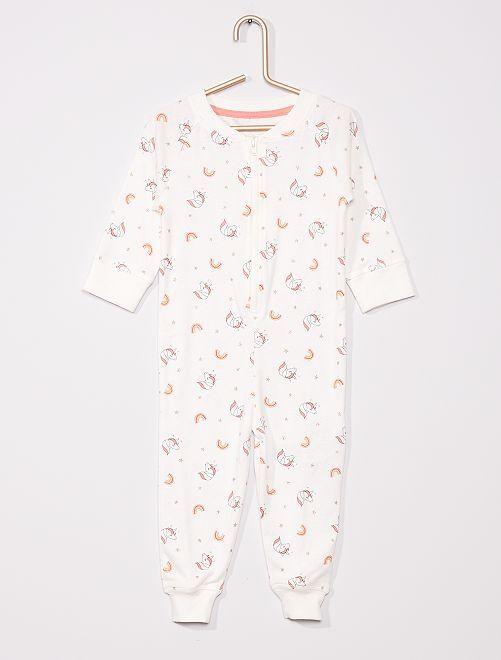 Pyjama 'unicorn' éco-conçu                                         BLANC