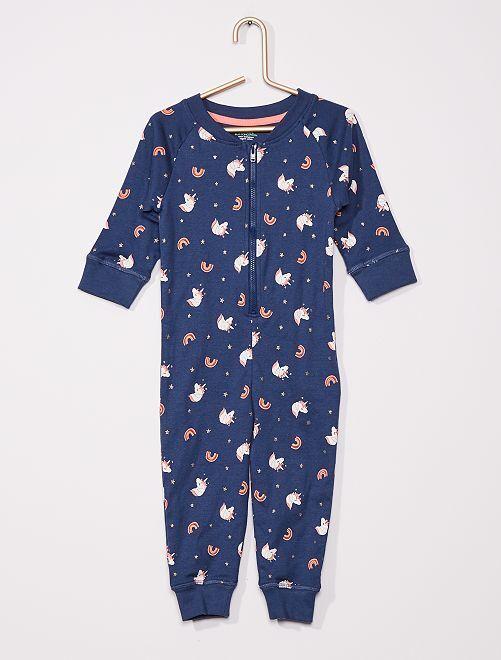Pyjama 'unicorn' éco-conçu                                         BLEU