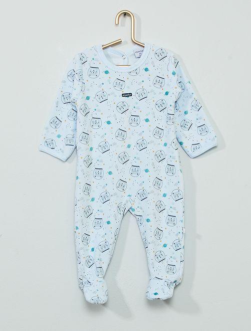 Pyjama velours                                         bleu